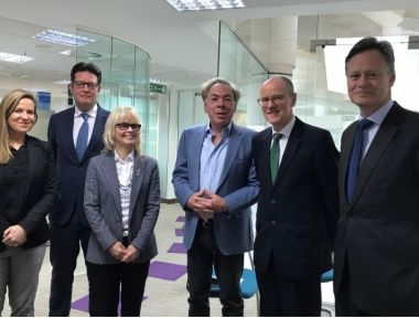 ALW and Nick Gibb at the Dept of Education